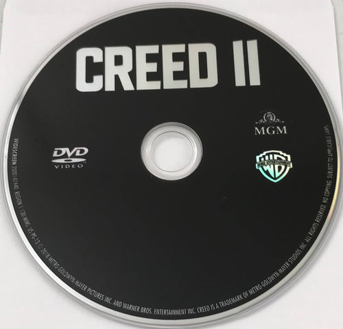 Creed II  DVD  Media