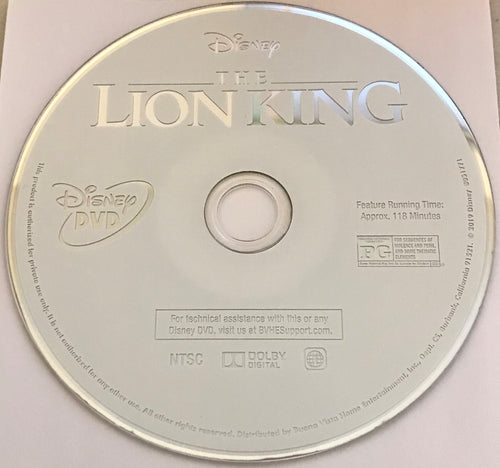 The Lion King (2019)  DVD