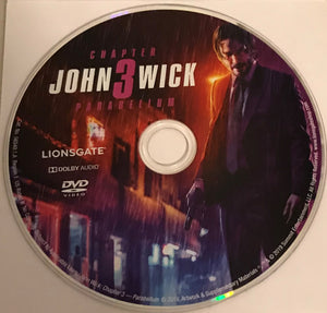 John Wick Chapter 3 - Parabellum  DVD  Media