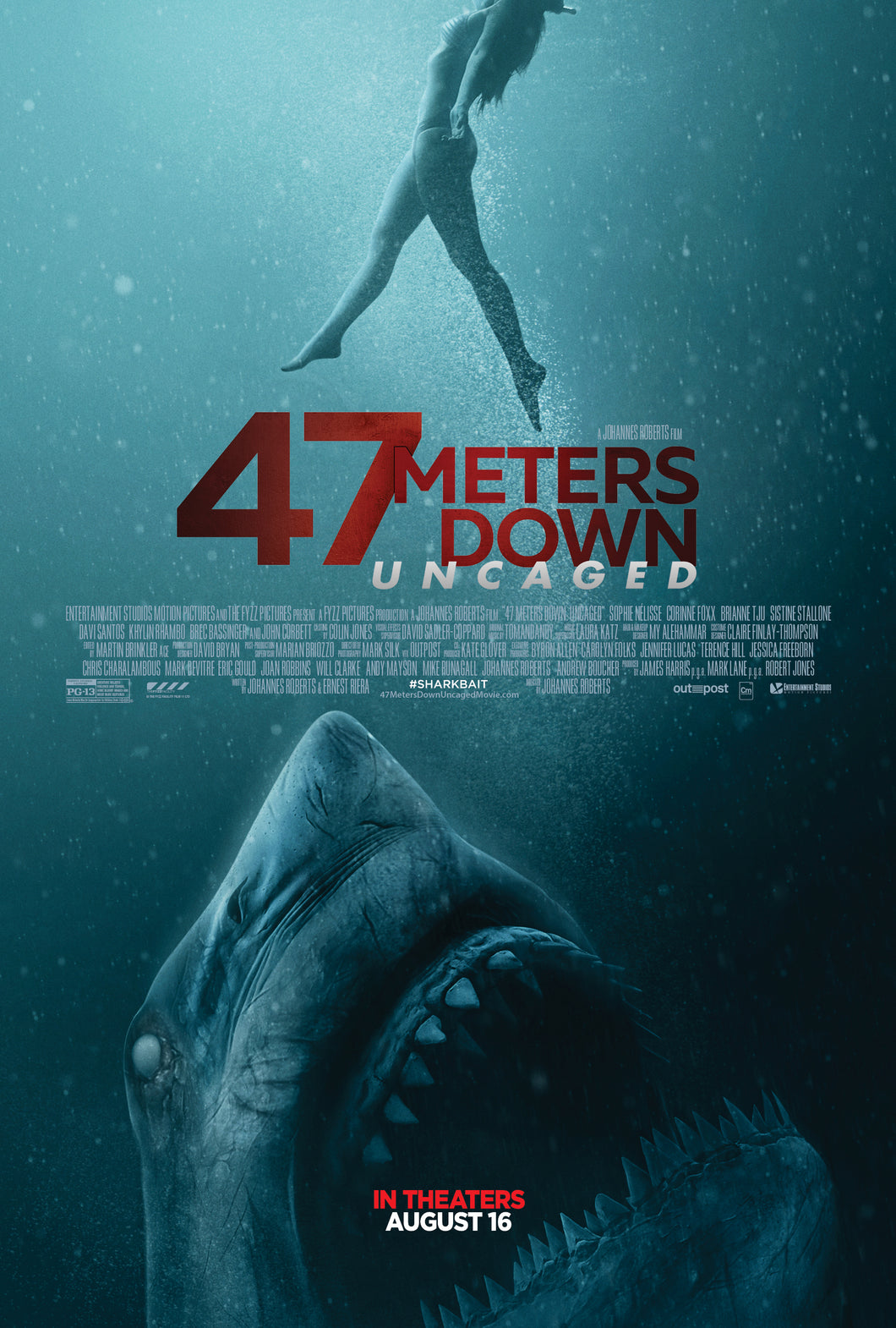 47 meters down uncaged Blu-ray  Media