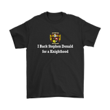 "I Back Stephen Donald for a Knighthood ""T-Shirt"""