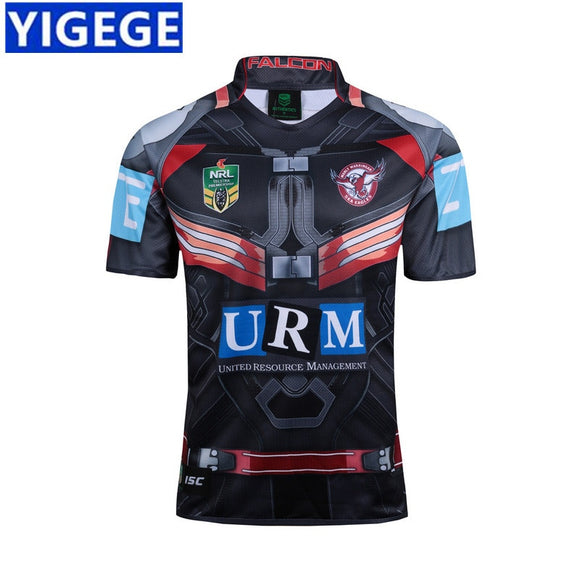 MANLY WARRINGAH SEA EAGLES FALCON MARVEL JERSEY NRL size S - 3XL