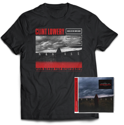 "Clint Lowery: ""God Bless The Renegades"" Cover T-Shirt + CD Signed Bundle"