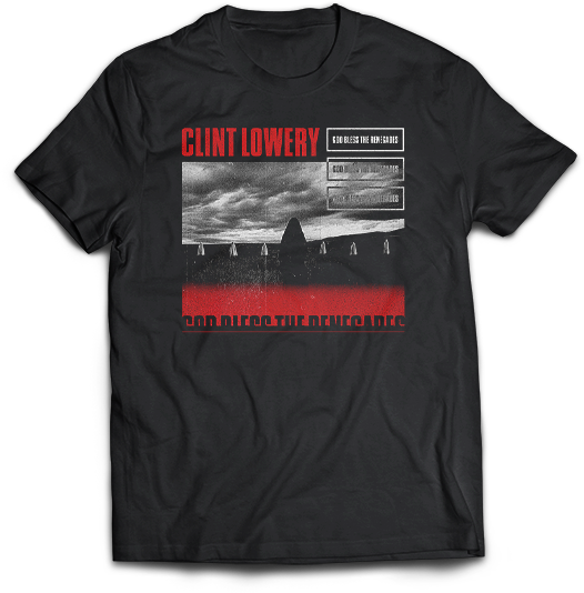 "Clint Lowery: ""God Bless The Renegades"" Cover - T-Shirt"