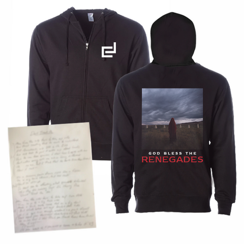 HANDWRITTEN & SIGNED LYRIC SHEET + COVER HOODIE (LIMITED OFFER)