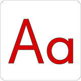 The letter A repositionable wall decal