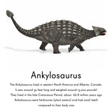 Ankylosaurus repositionable wall decal
