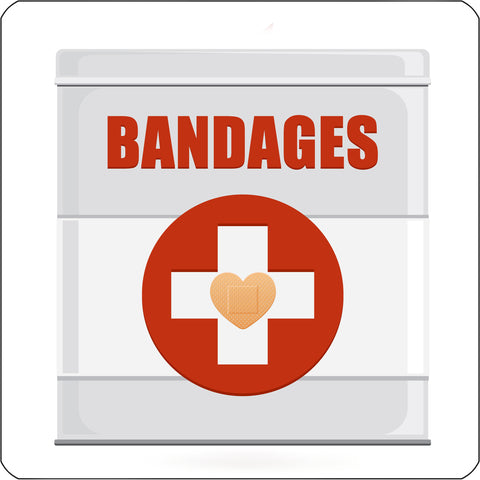 Bandages repositionable wall decal