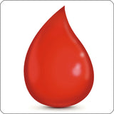 drop of blood repositionable wall decal