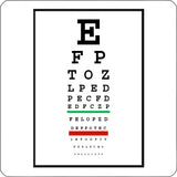eye chart repositionable wall decal