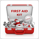 first aid kit repositionable wall decal