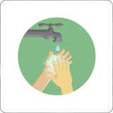 Hand washing repositionable wall decal