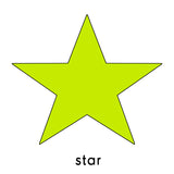 chartreuse star repositionable wall decal