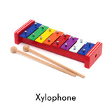 child's xylophone repositionable wall decal