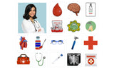 nurse with medical repositionable wall decal
