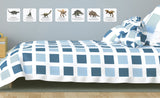 dinosaur repositionable wall decals on wall of child's room
