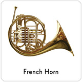 french horn repositionable wall decal