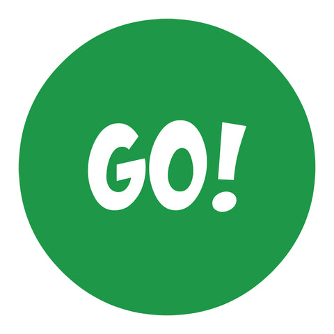 green go decal repositionable wall decal