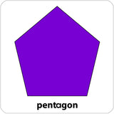 pentagon repositionable wall decal