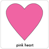 pink heart repositionable wall decal