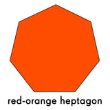 red-orange heptagon repositionable wall decal