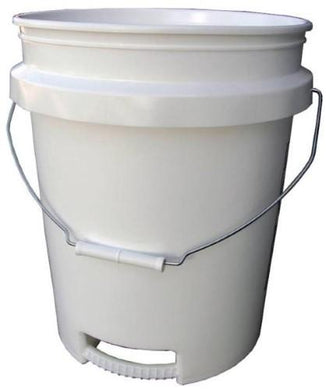Bucket 5 Gal White 2 Handle Wir