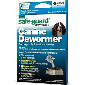 Dewormer Safe-Guard Canine 2gx3