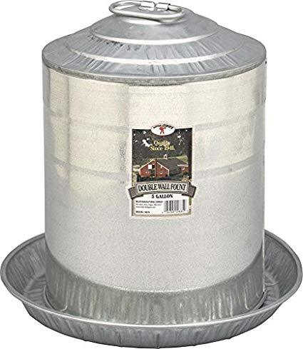 Double wall galv 2 gal fountain