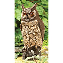 Great Horned Owl Hand Painted 1