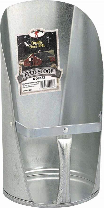 Feed Scoop Galv 6 qt