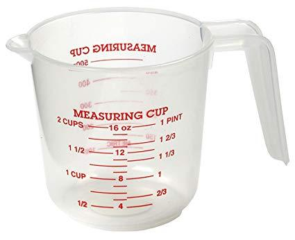 Measuring Cup Plastic 2 Cup