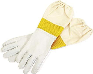 Bee Goatskin Gloves with Vented