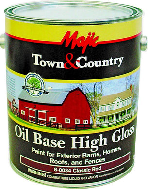 Paint Oil Base Gallon Red