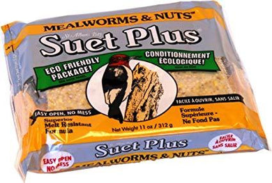 Suet Plus Mealworms & Nuts Suet