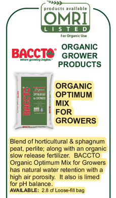 Baccto Organic Optimum Mix OMRI