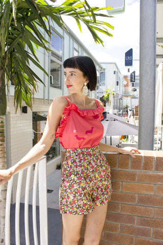 Sweet Floral Shorts - Two of a kind - Handmade by Alice