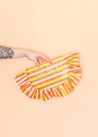 Nah Mate Clutch - Orange Stripe - One Off