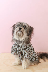 Dog Button Up Shirt - Dot Floral - Small Batch