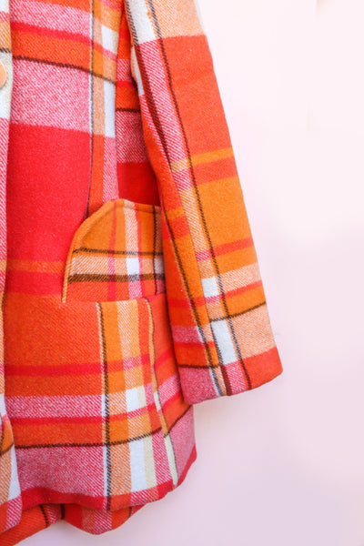 Orange Vintage Blanket Coat - One of two