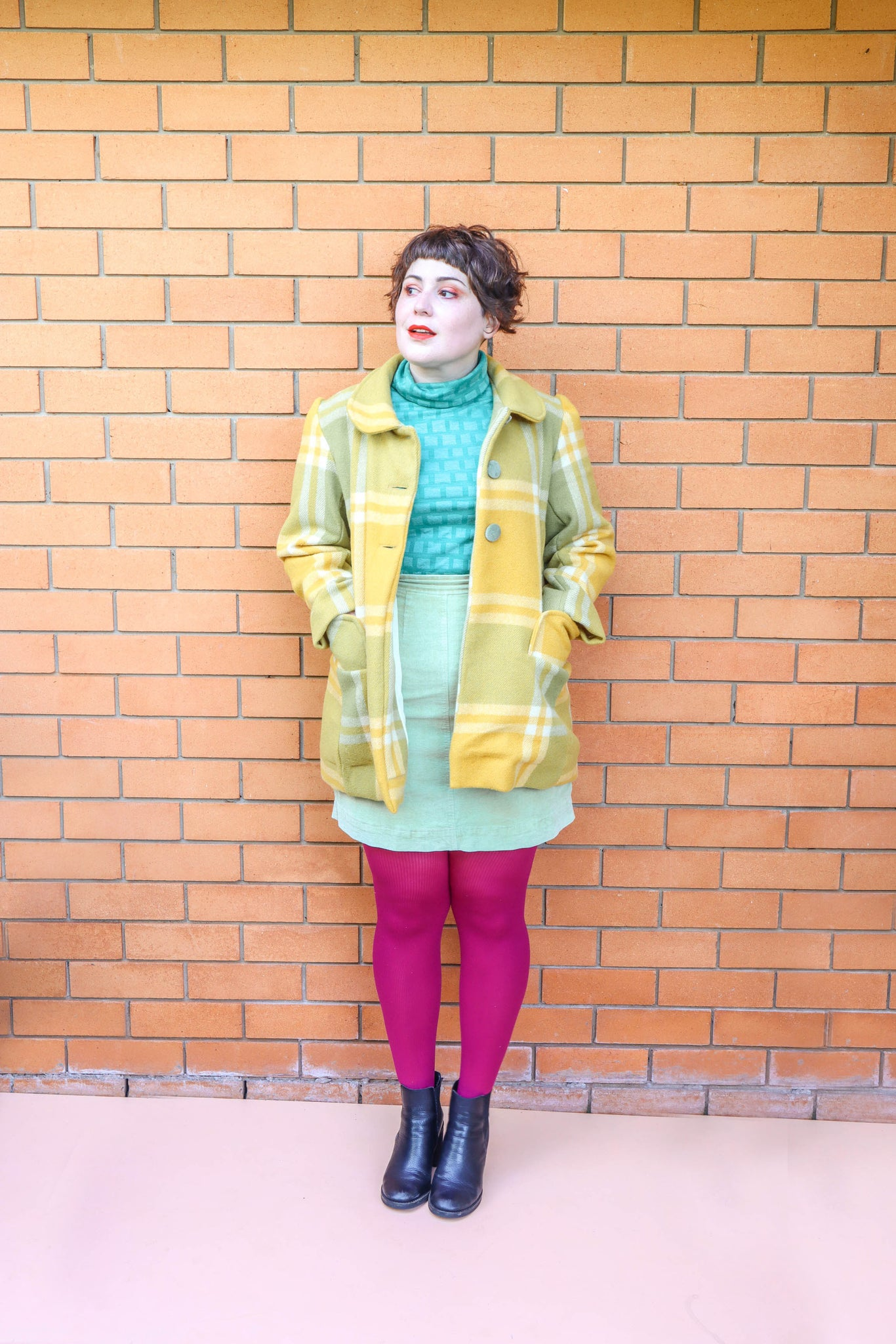 Green + Yellow Blanket Coat - One of three