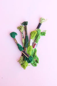 Green Embroidery Thread