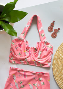 Cockatoo Swim Set - Pink - Handmade by Alice