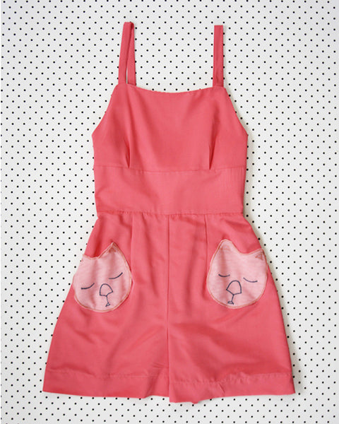 Wombat Playsuit- Handmade by Alice