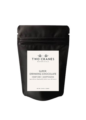 Organic Super Drinking Chocolate   //   Hemp CBD + Adaptogens
