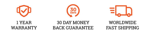 Pleno 30 days money back guarantee and one year warranty