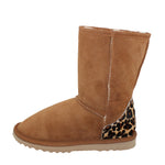 BONDI UGG - Crush Short Sheepskin Boot - Chestnut Leopard
