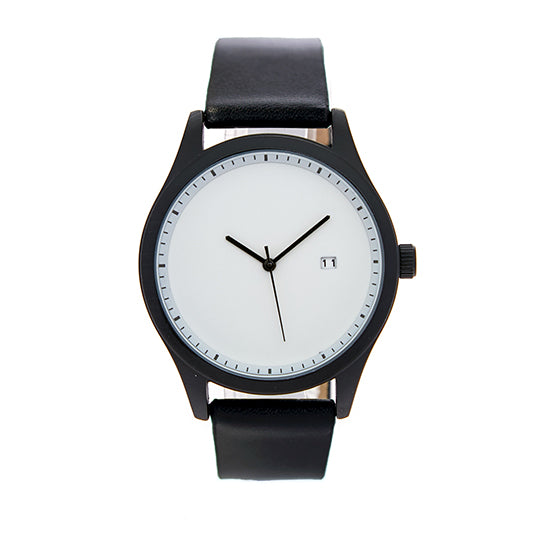 Leupp Aoki black leather Watch