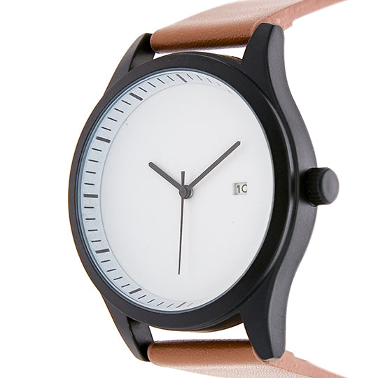 Leupp Aoki tan leather Watch