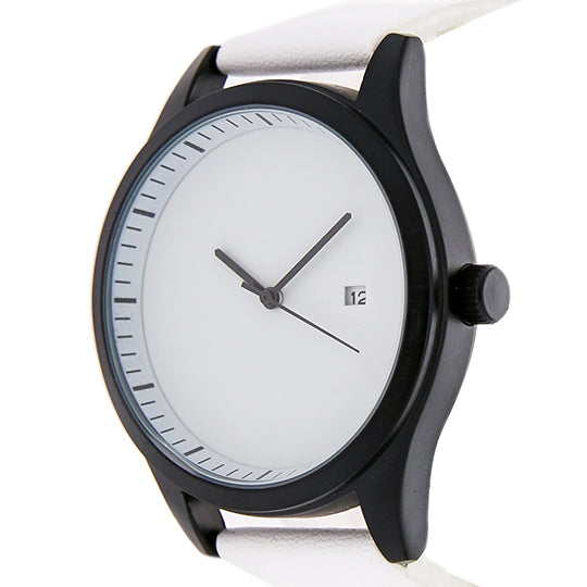 Leupp Aoki white leather Watch