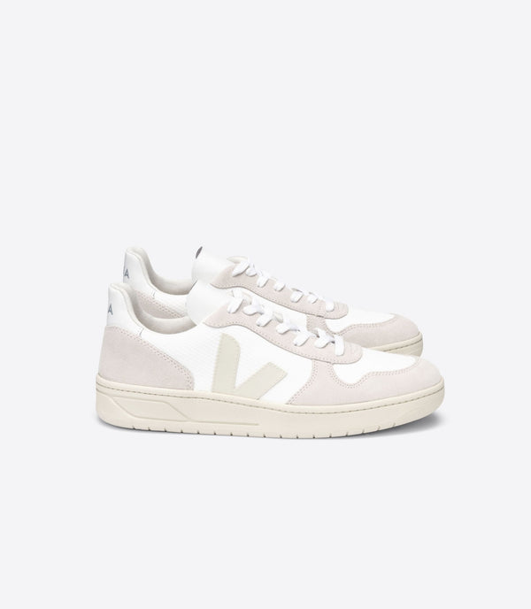 BASKET VEJA V10 B-MESH WHITE NATURAL PIERRE